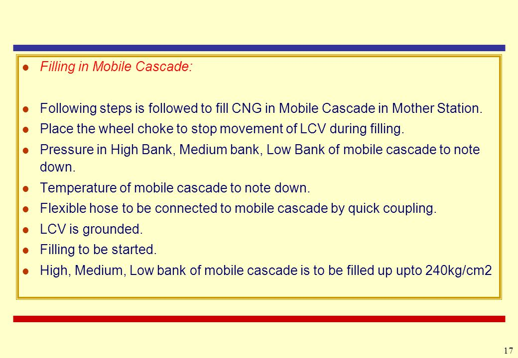 Filling in Mobile Cascade: