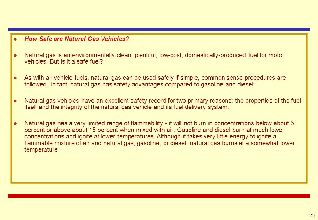 How Safe are Natural Gas Vehicles