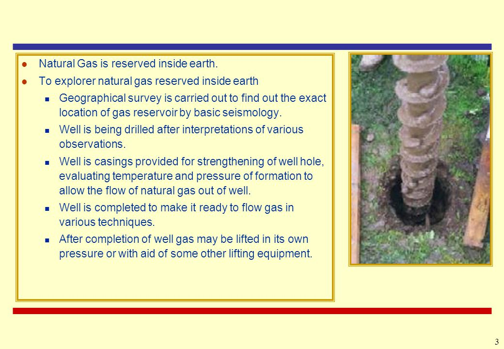 Natural Gas is reserved inside earth.