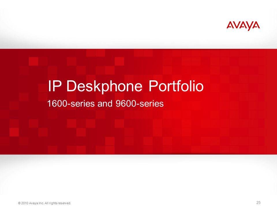 IP Deskphone Portfolio