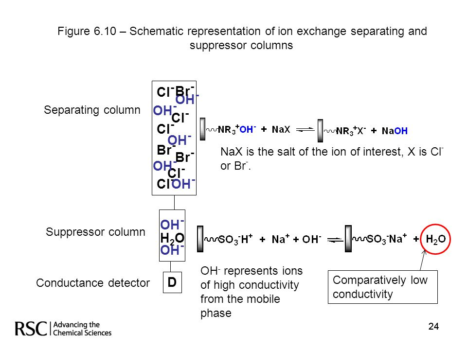 Figure 6.10 – Schematic representation of ion exchange separating and