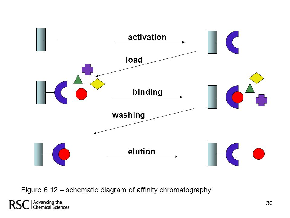 activation load binding washing elution