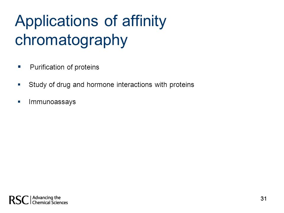 Applications of affinity chromatography