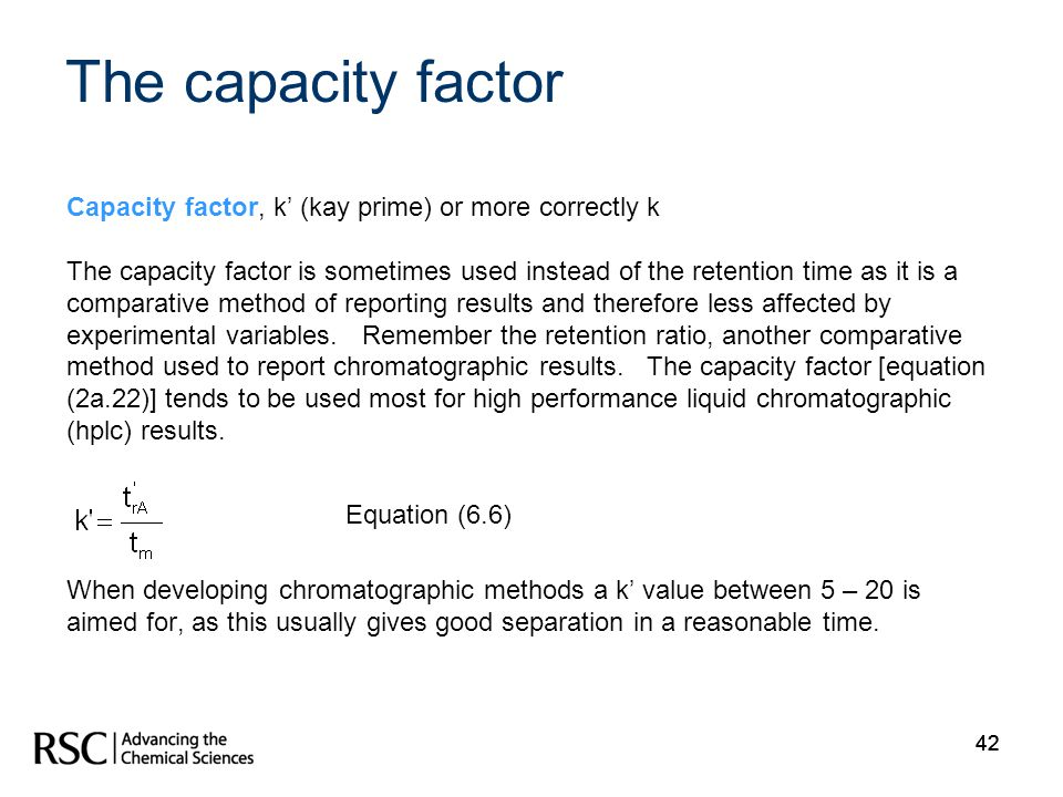The capacity factor