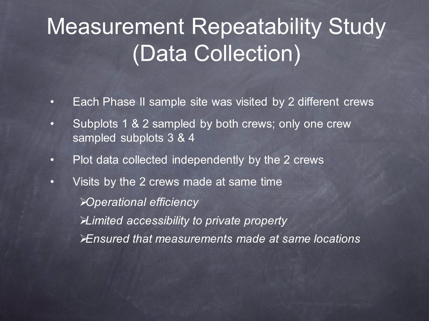 Measurement Repeatability Study (Data Collection)