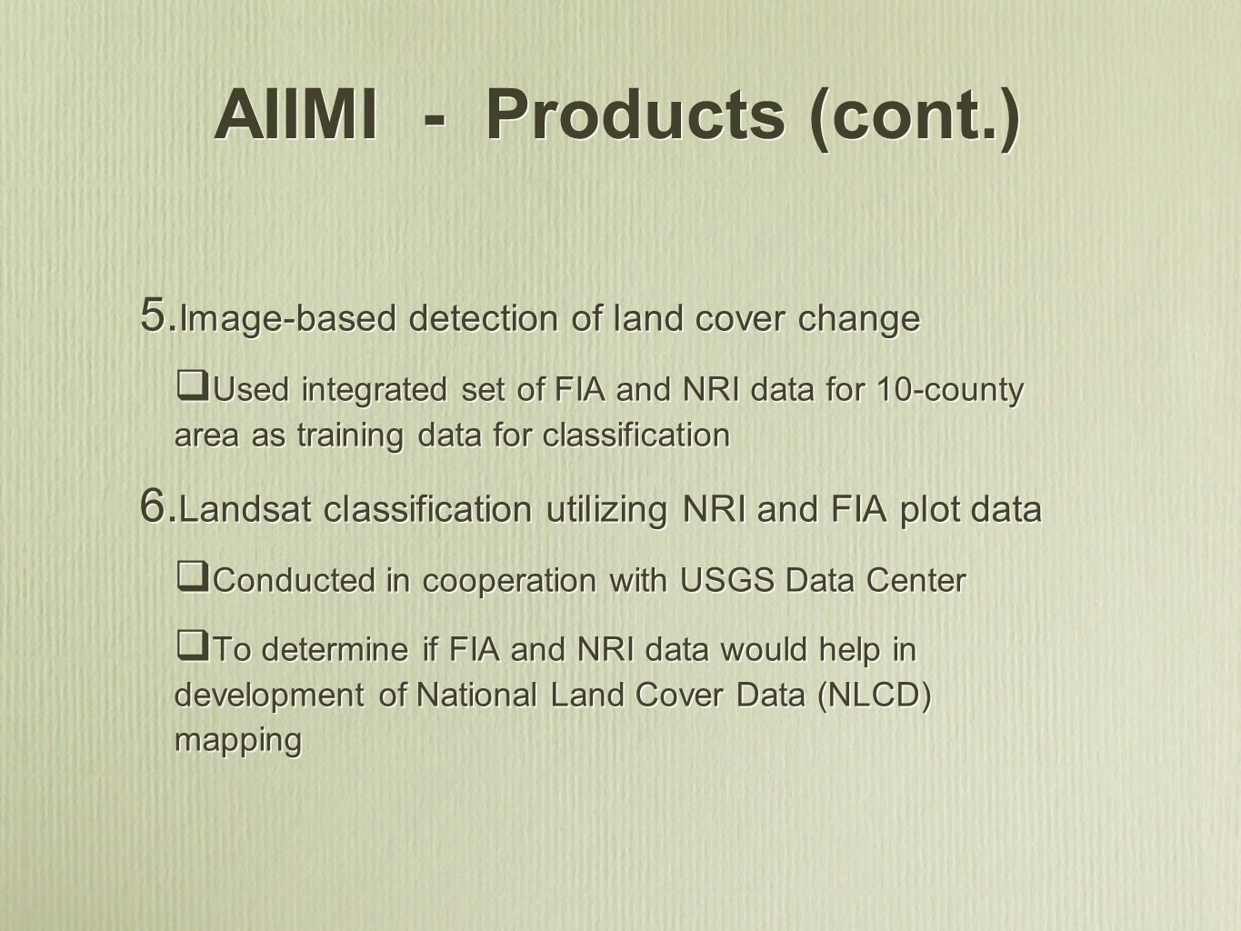 AIIMI - Products (cont.)