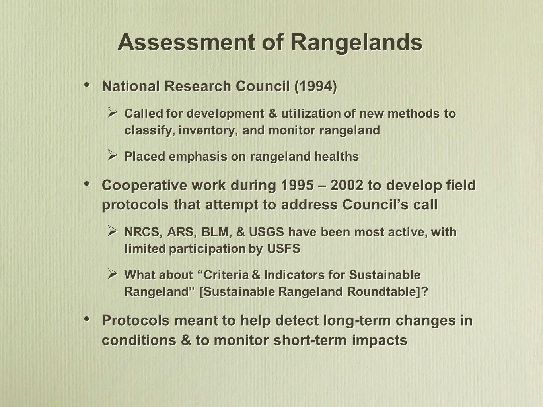 Assessment of Rangelands