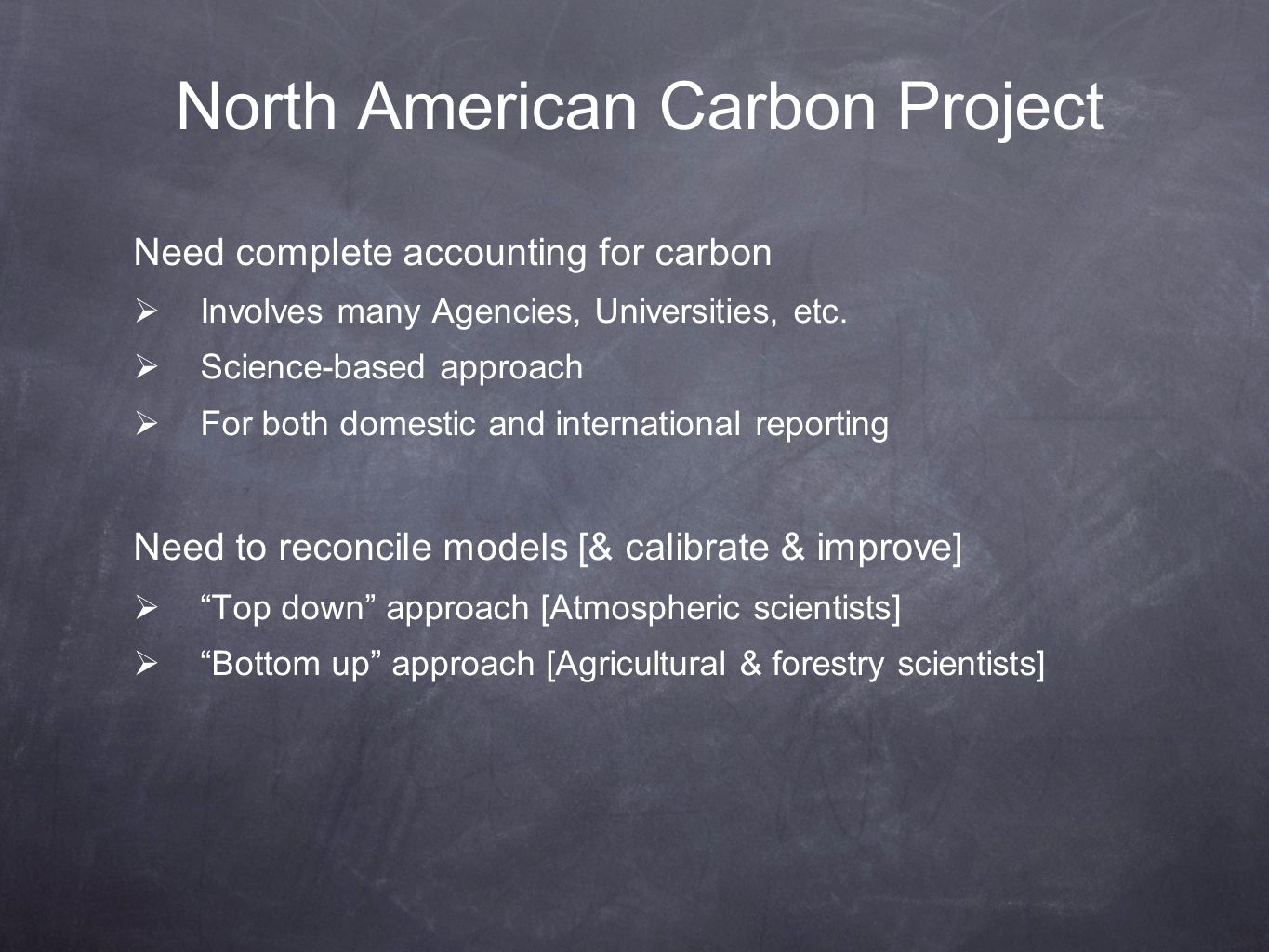 North American Carbon Project