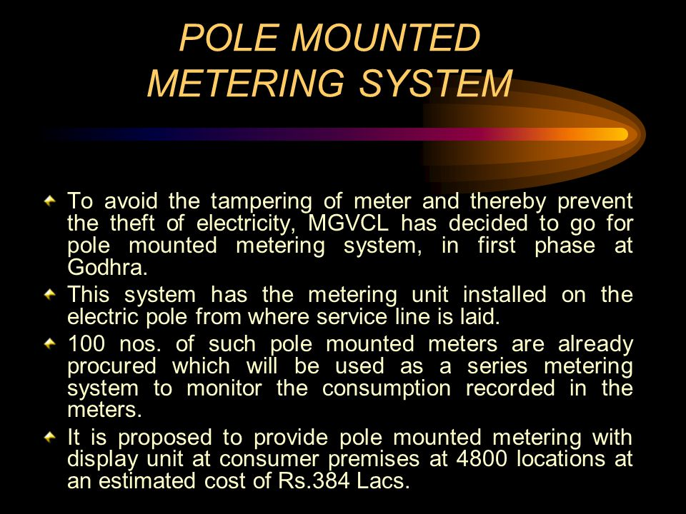 POLE MOUNTED METERING SYSTEM