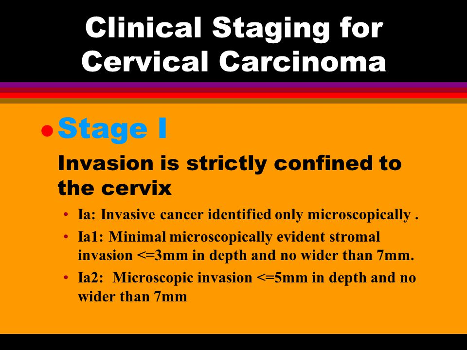 Clinical Staging for Cervical Carcinoma