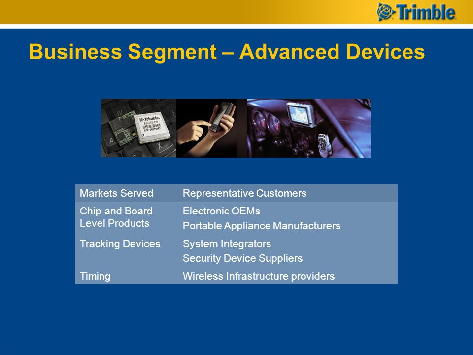 Business Segment – Advanced Devices