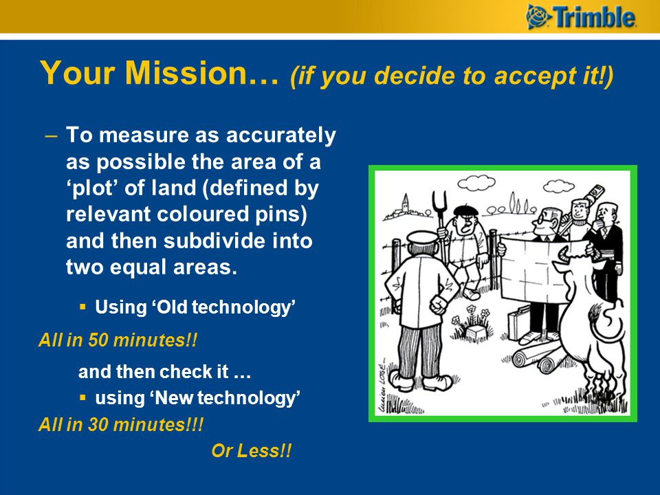 Your Mission… (if you decide to accept it!)