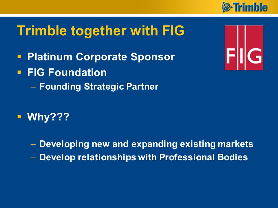 Trimble together with FIG