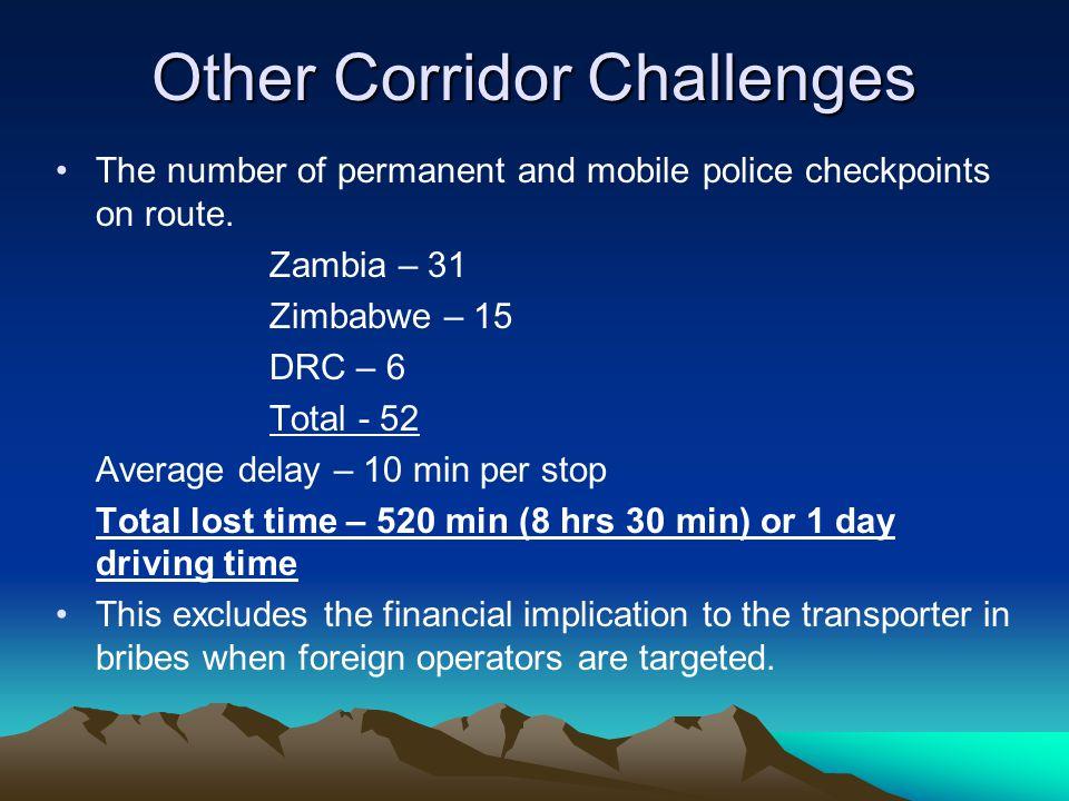 Other Corridor Challenges