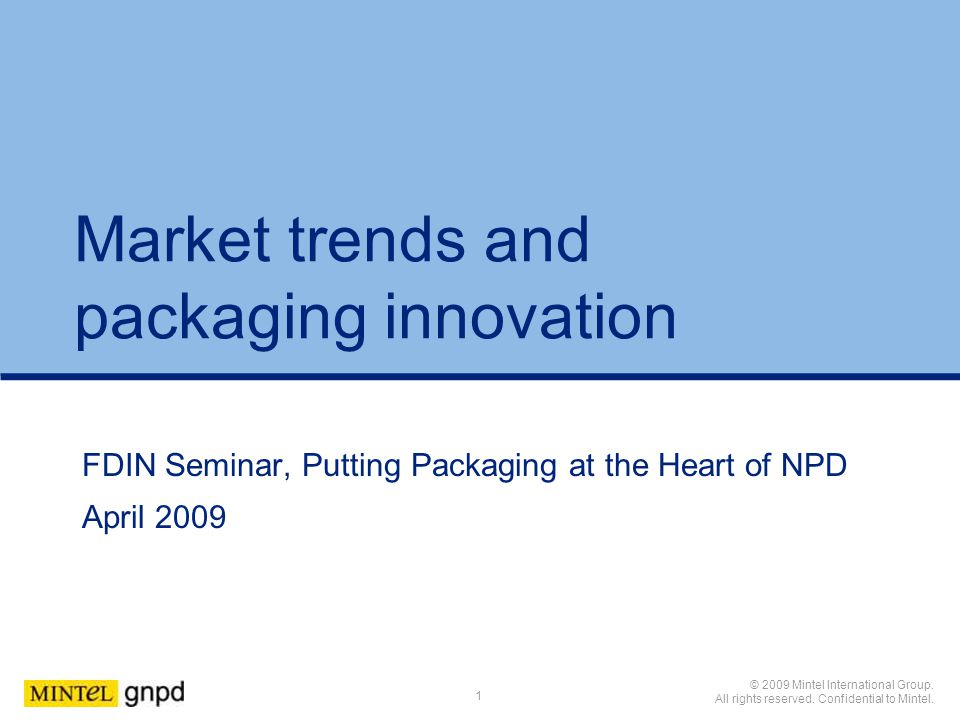 Market trends and packaging innovation