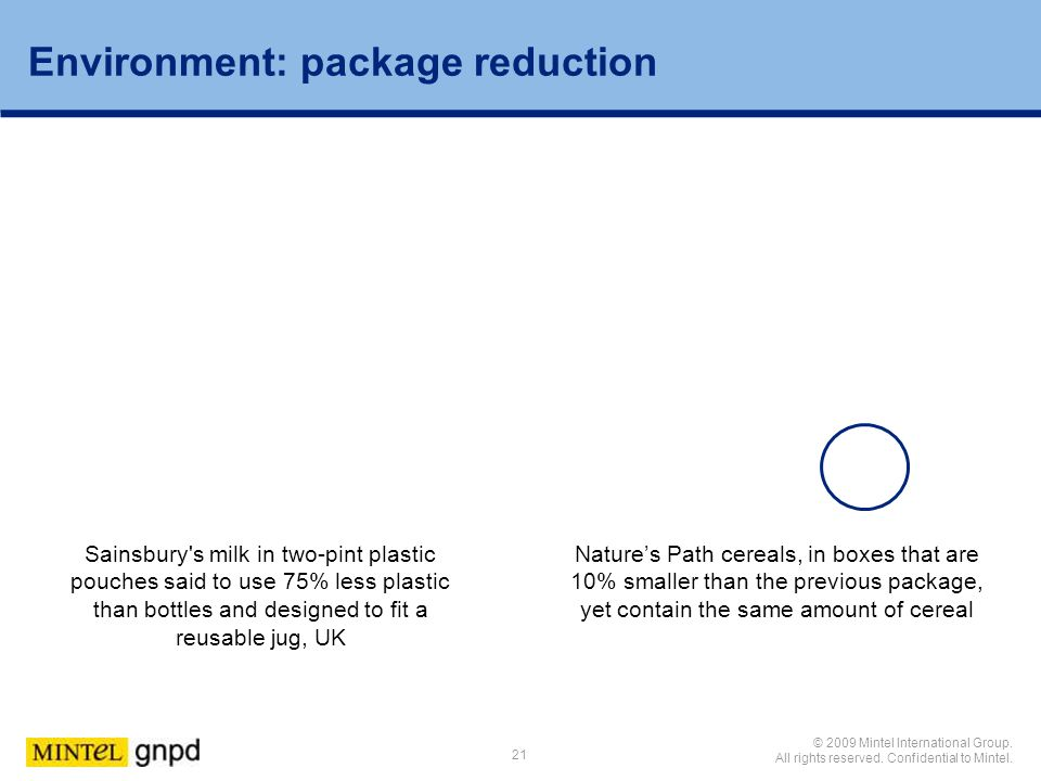 Environment: package reduction