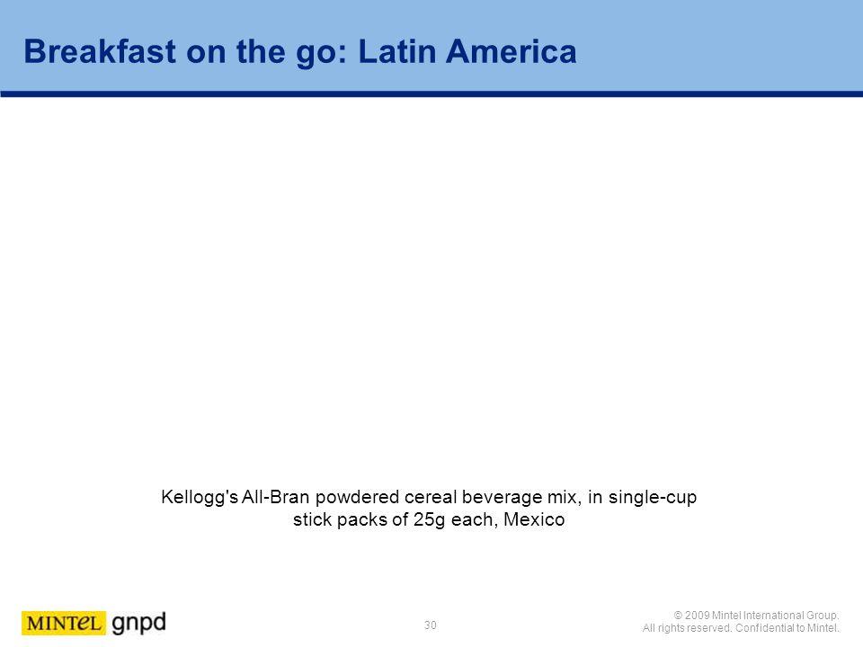 Breakfast on the go: Latin America
