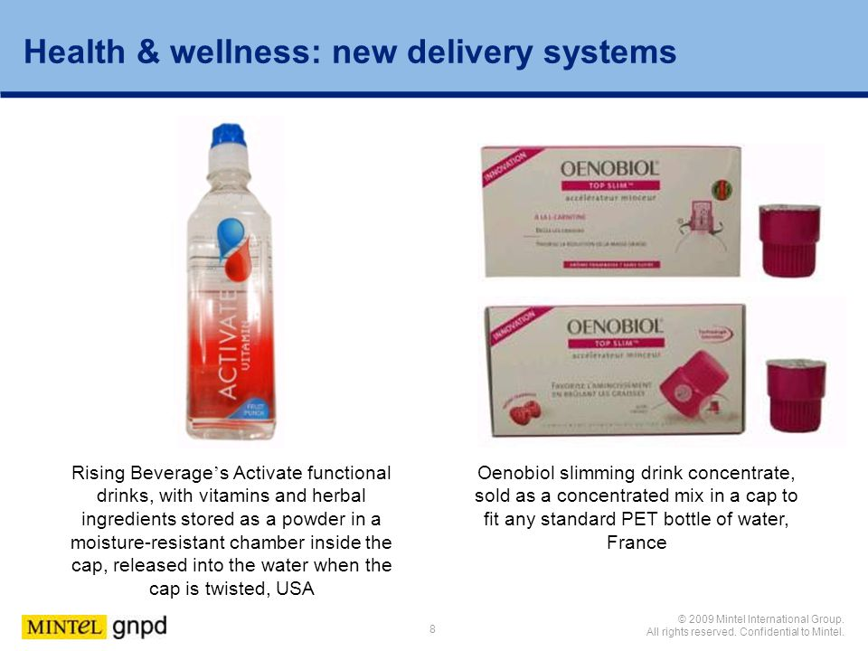 Health & wellness: new delivery systems