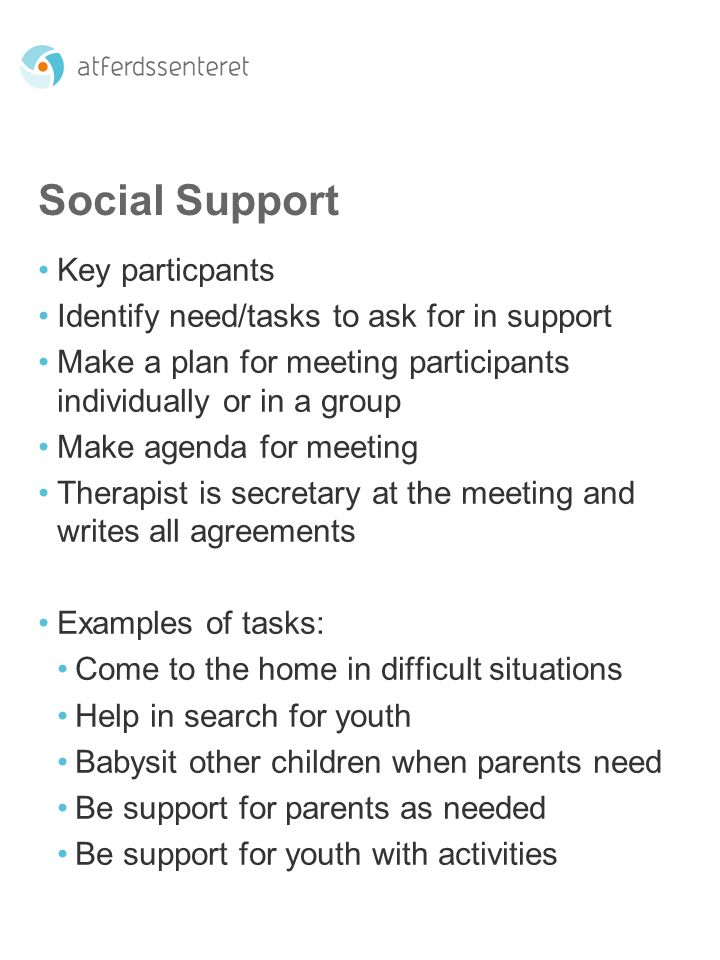 Social Support Key particpants
