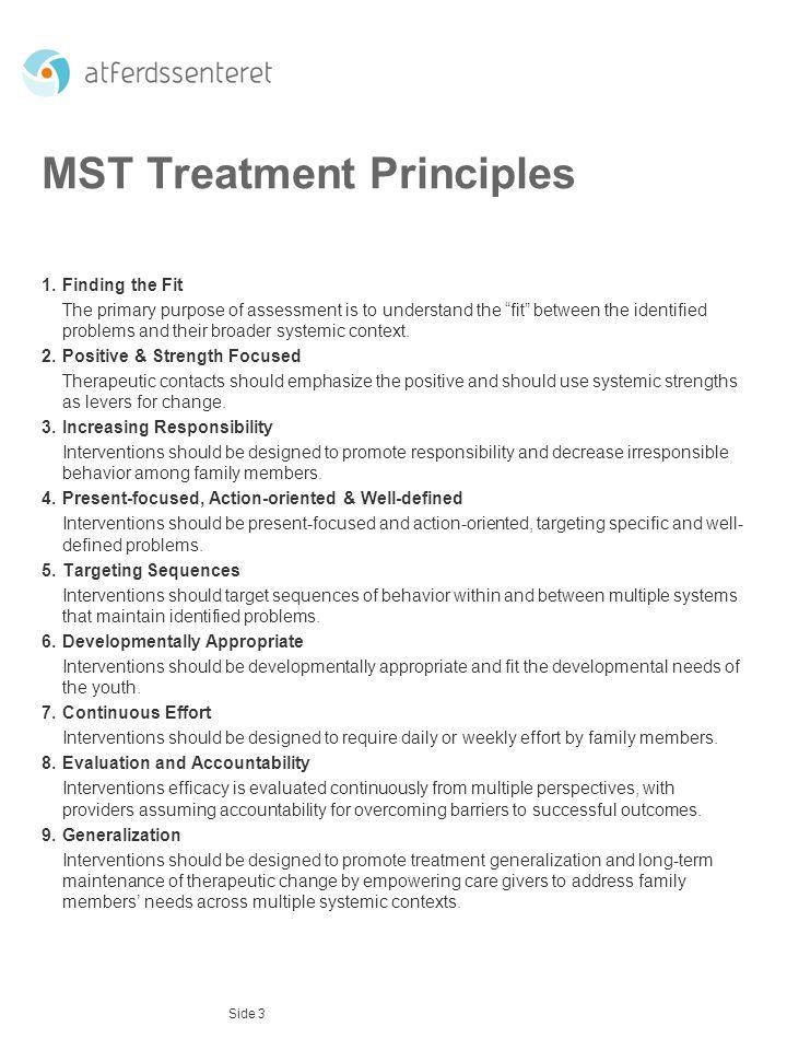 MST Treatment Principles