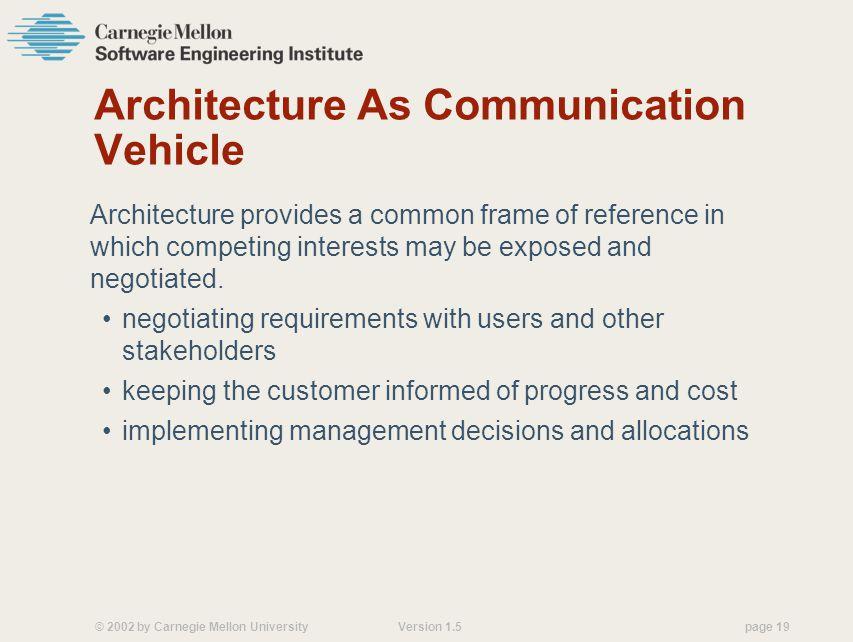 Architecture As Communication Vehicle