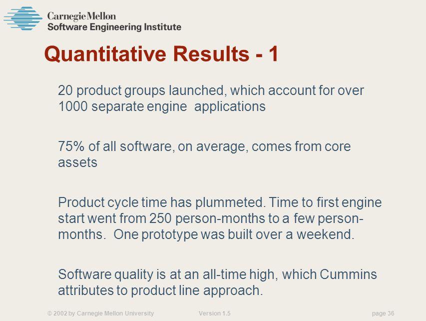 Quantitative Results - 1