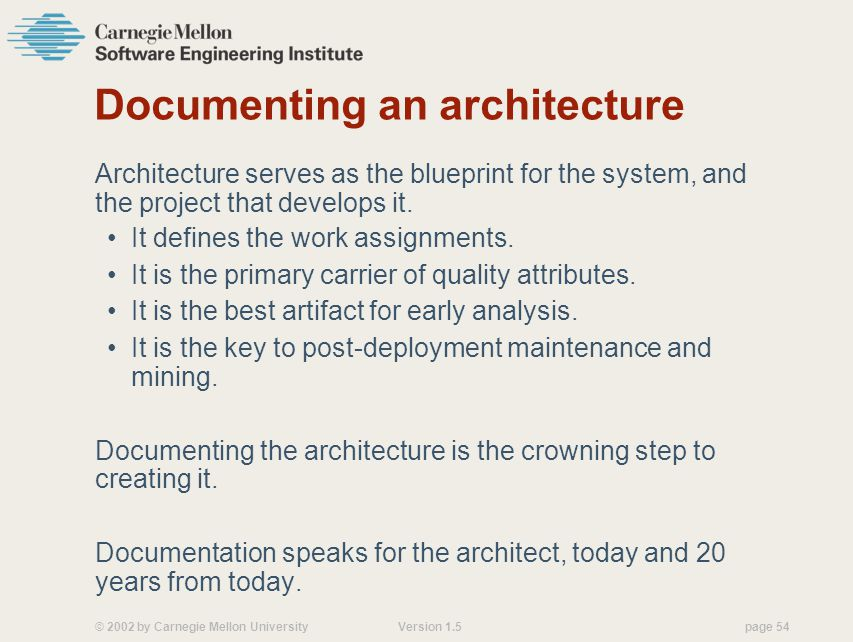 Documenting an architecture