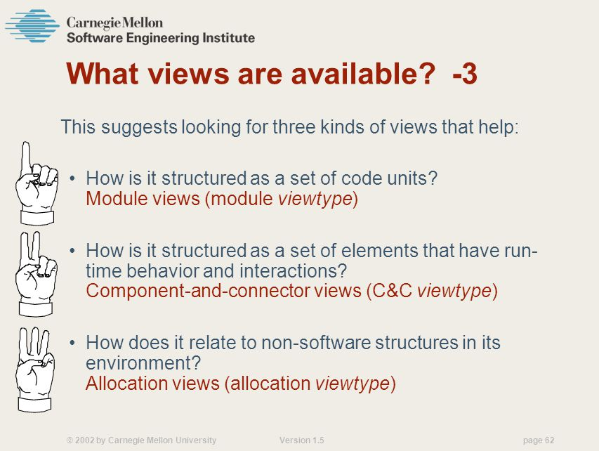What views are available -3