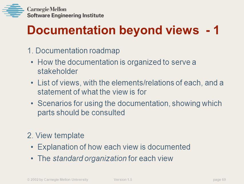 Documentation beyond views - 1