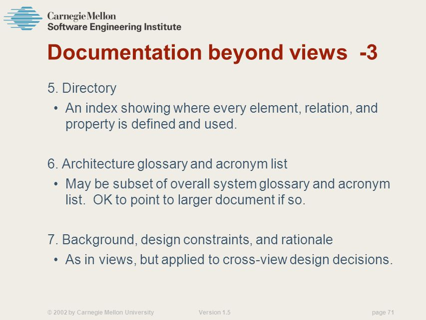 Documentation beyond views -3