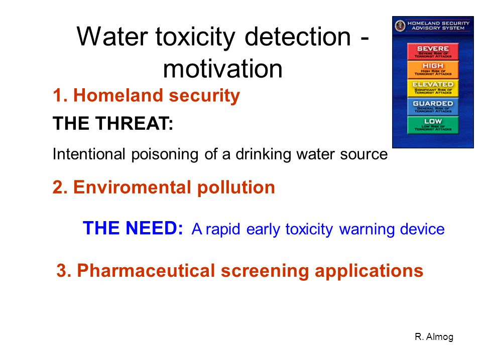 Water toxicity detection - motivation