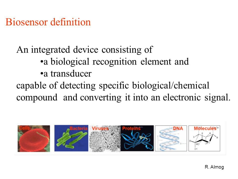 Biosensor definition An integrated device consisting of