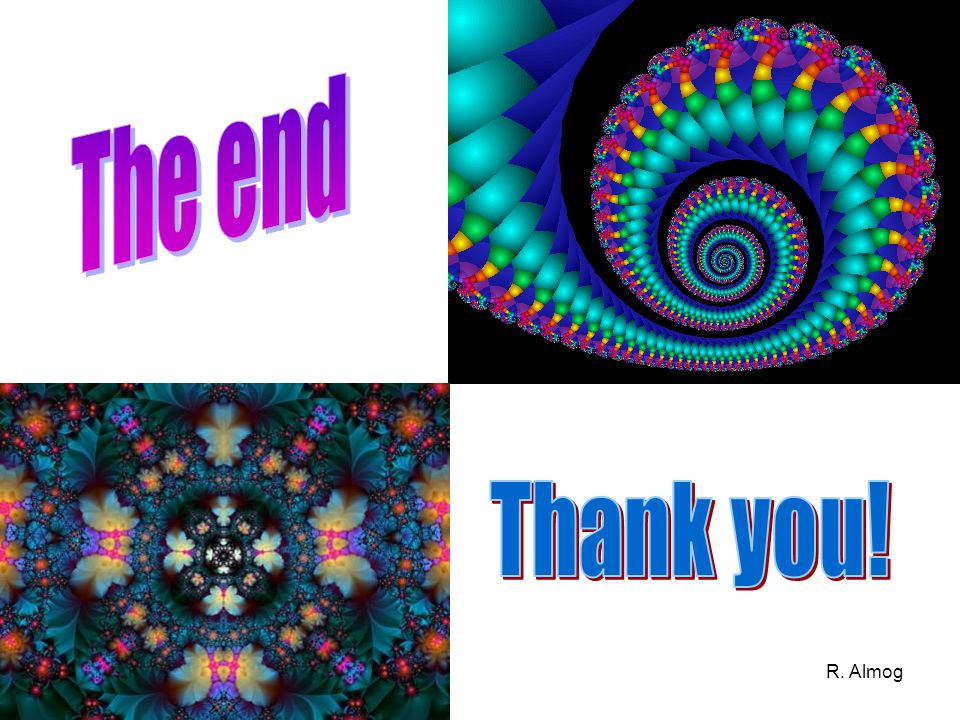 The end Thank you! R. Almog