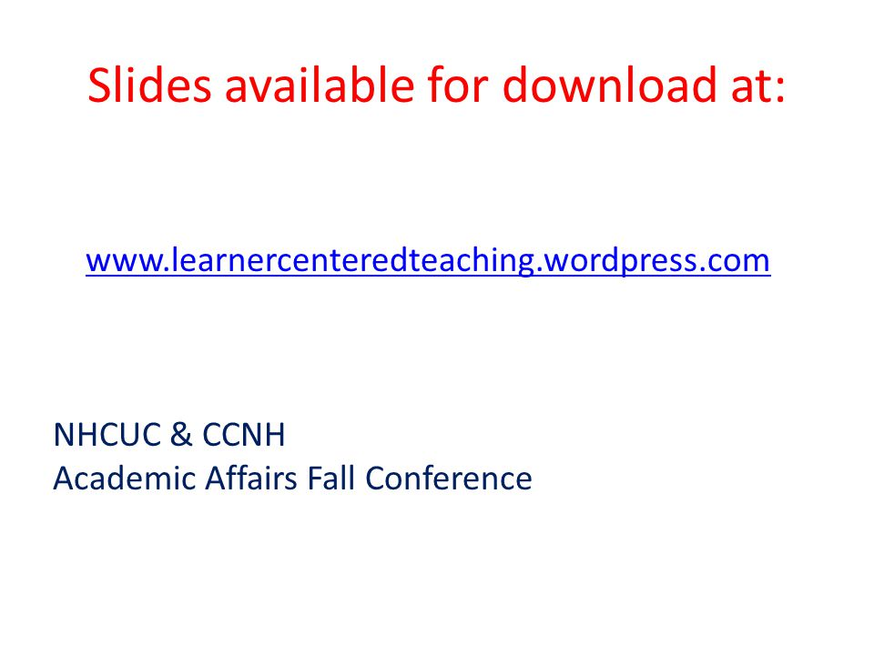 Slides available for download at: