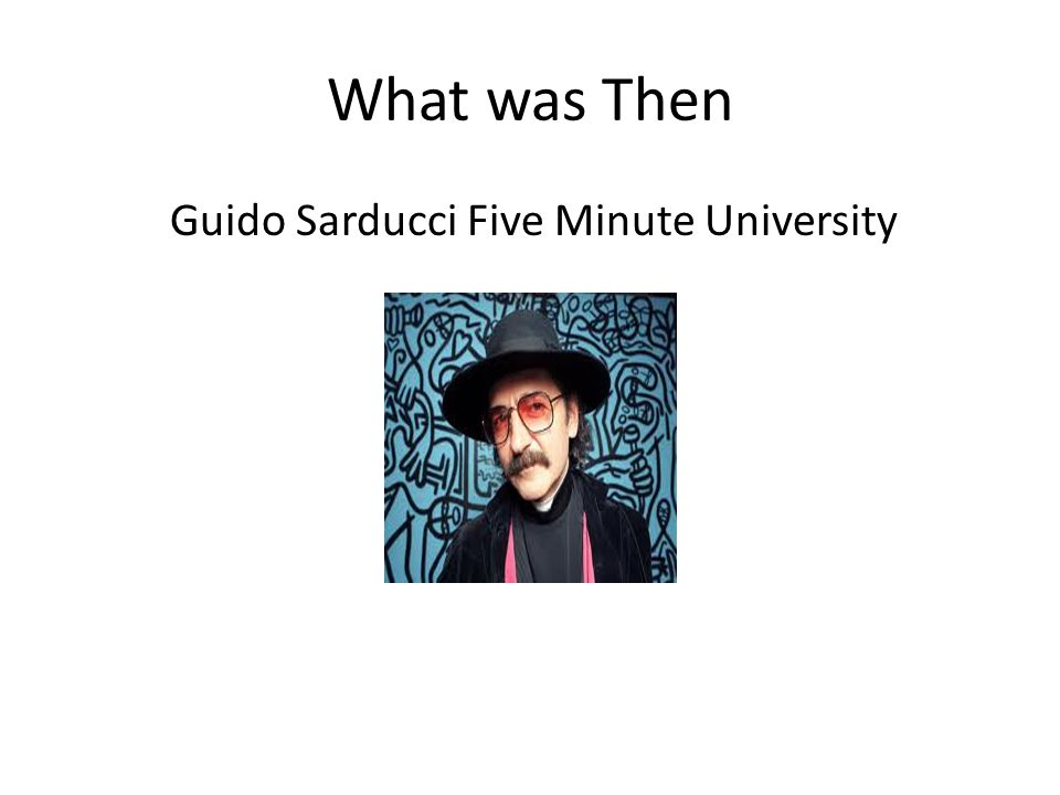 What was Then Guido Sarducci Five Minute University