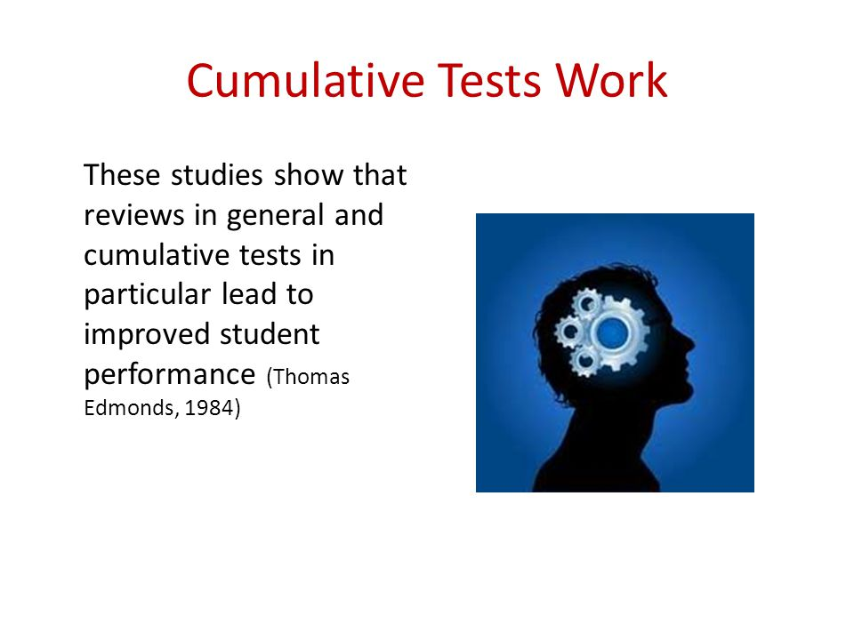 Cumulative Tests Work