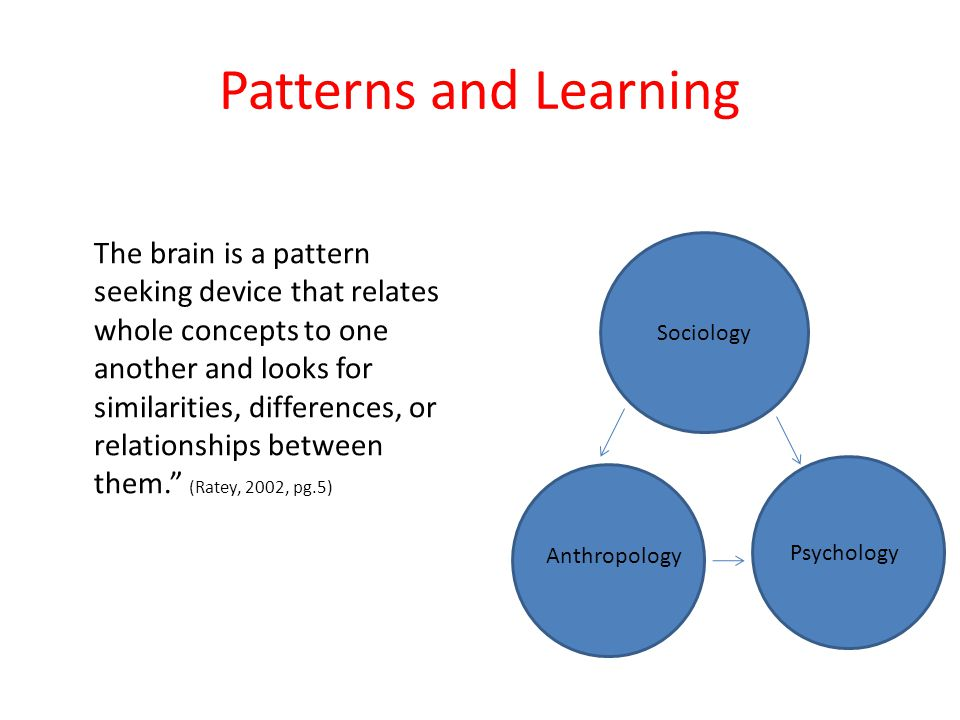 Patterns and Learning