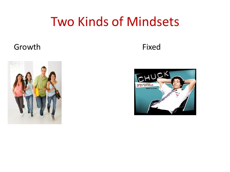 Two Kinds of Mindsets Growth Fixed