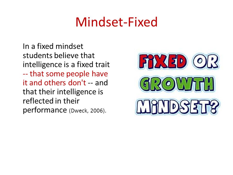 Mindset-Fixed