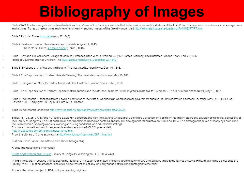 Bibliography of Images