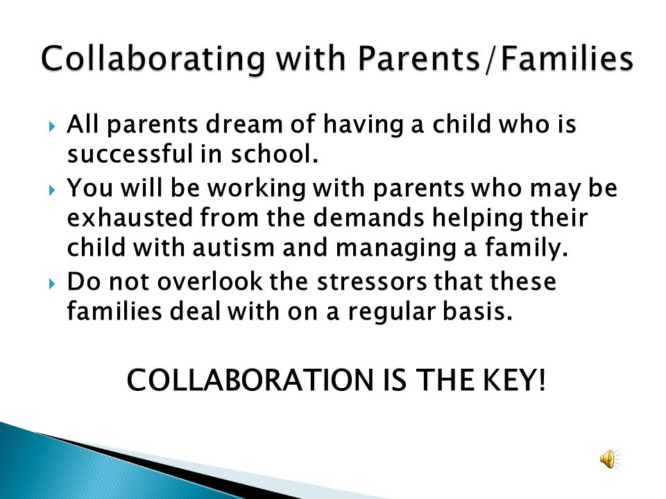 Collaborating with Parents/Families
