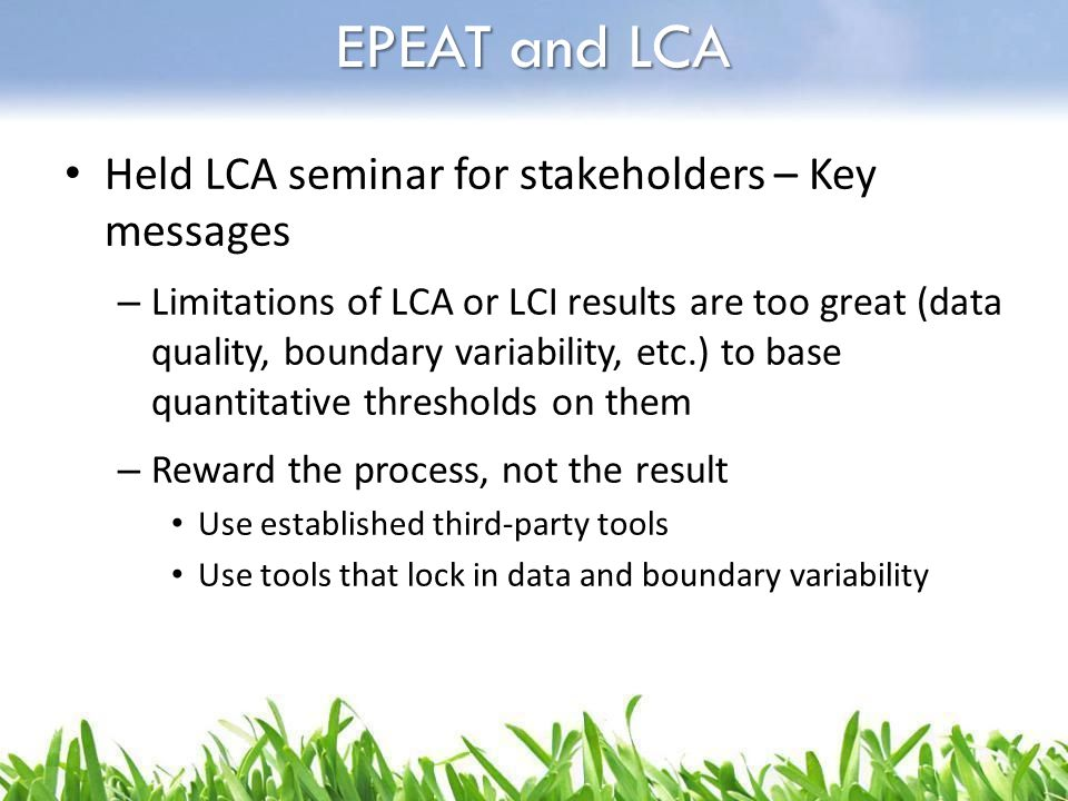 EPEAT and LCA Held LCA seminar for stakeholders – Key messages