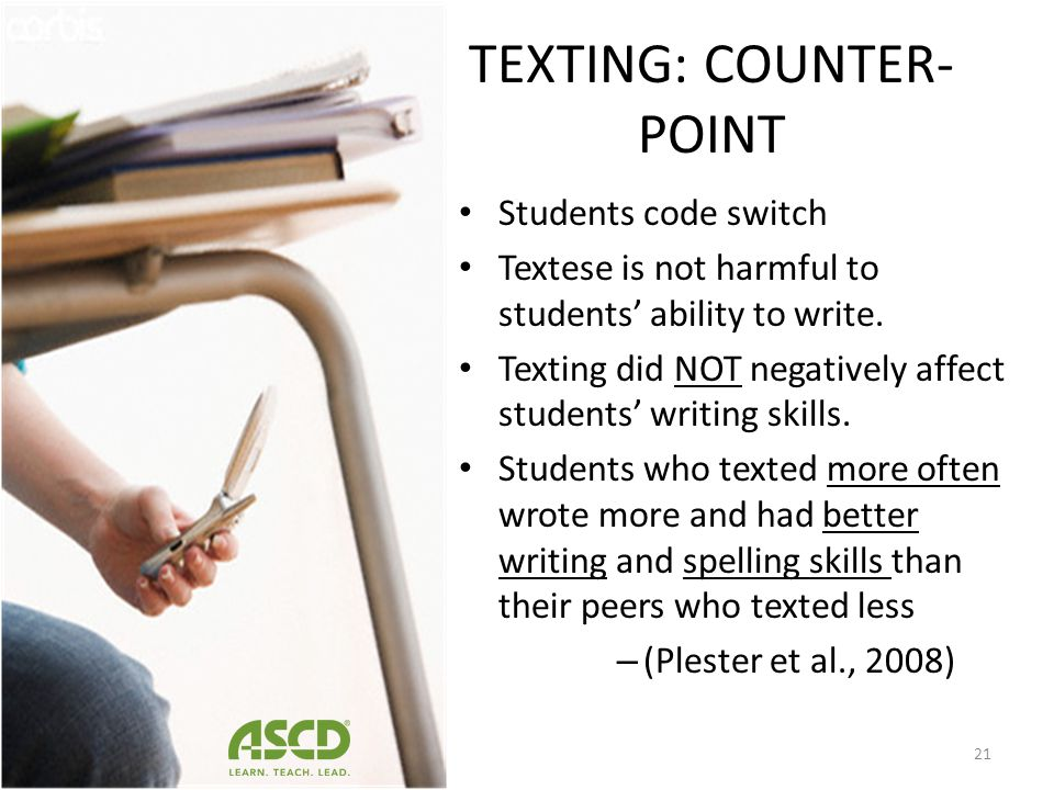 TEXTING: COUNTER-POINT