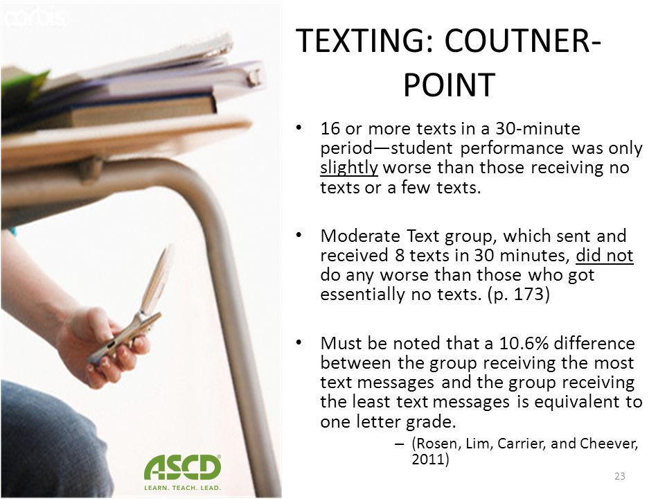 TEXTING: COUTNER-POINT