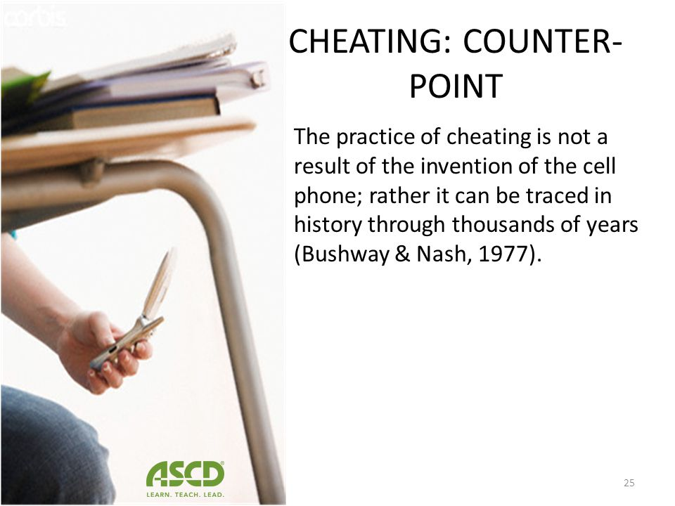 CHEATING: COUNTER-POINT