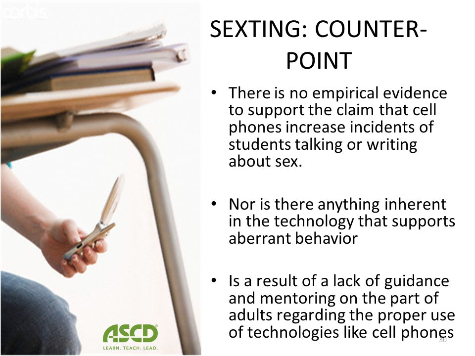 SEXTING: COUNTER-POINT