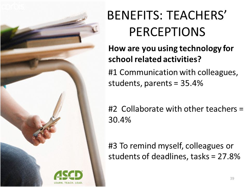 BENEFITS: TEACHERS' PERCEPTIONS