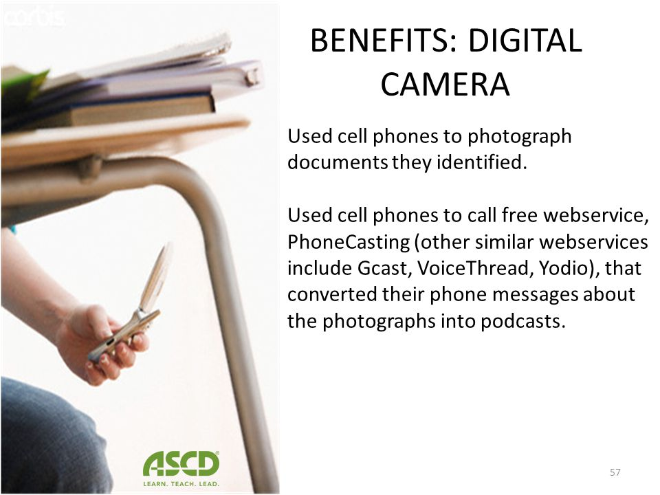 BENEFITS: DIGITAL CAMERA
