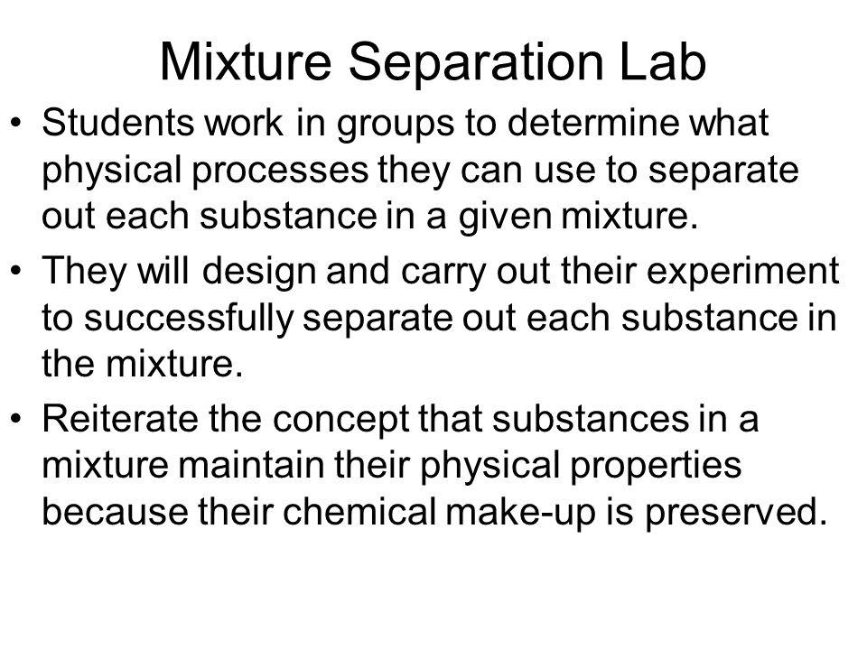 Mixture Separation Lab