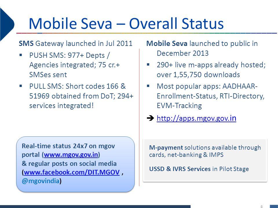 Mobile Seva – Overall Status